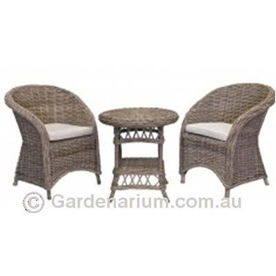 Real Kubu Wicker 3 Piece Setting - Gardenarium :: Outdoor Furniture